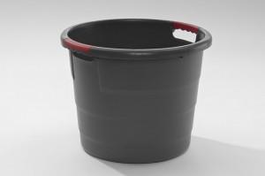 Futterbehälter 70 Liter Schwarz