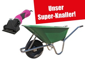 Pferde-Schermaschine Cutli + Compactkarre 100 Liter