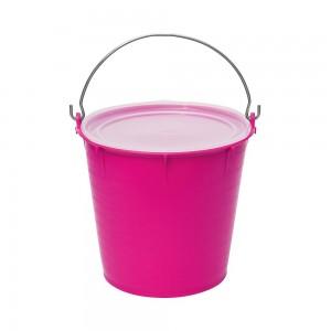 Futtereimer mit Deckel Pink