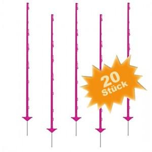 20 x Growi Weidezaunpfahl Pink / 1,56 m